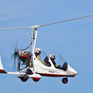 Pilotage d'ULM Autogire près de Bourgoin-Jallieu