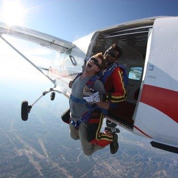 Saut en parachute, département Rhône