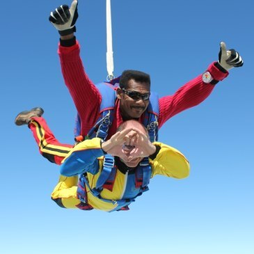Saut en parachute, département Saône et loire