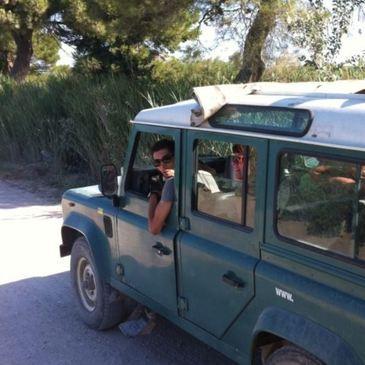 Randonnée Safari en 4x4 en Camargue à Aigues-Mortes en région Languedoc-Roussillon