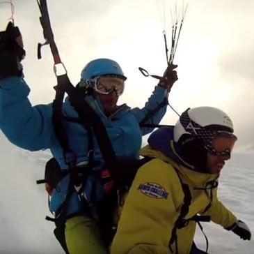 Parapente à Ski, département Haute savoie