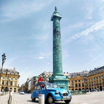 Balade en 2CV à Paris en région Ile-de-France