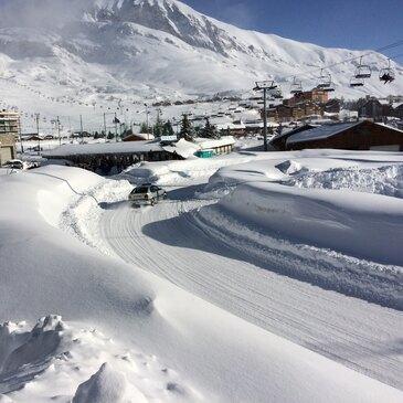 Pilotage sur Glace avec votre Voiture à l'Alpe d'Huez