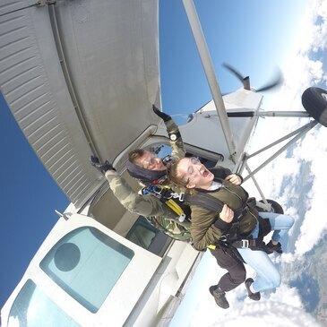 Saut en parachute, département Ardennes