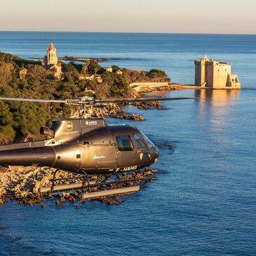 Week-end Baptême en Hélicoptère à Cannes - Îles de Lérins
