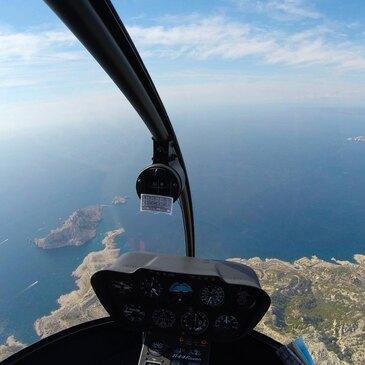 Baptême de l'air hélicoptère proche Vitrolles, à 25 km de Marseille
