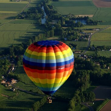 Baptême de l'air montgolfière proche Vineuil, 50 min d'Orléans