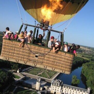 Baptême de l'air montgolfière proche Chaumont-sur-Loire