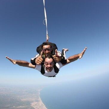 Saut en parachute, département Vendée