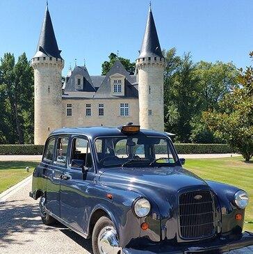 Circuit Œnologique en Taxi Anglais à Bordeaux