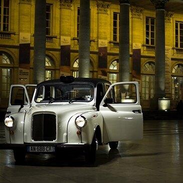 Balade Nocturne en Taxi Anglais à Bordeaux