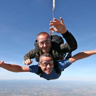 Saut en parachute, département Haute loire