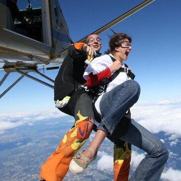 Saut en Parachute Tandem près de Saint-Etienne