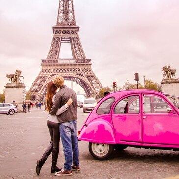 Balade Romantique en 2CV avec Dîner à Paris