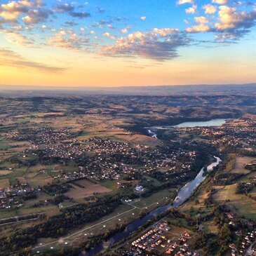 Baptême de l'air montgolfière, département Saône et loire