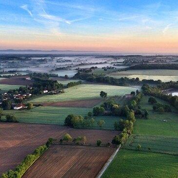 Aérodrome de Frontenas, Rhône (69) - Baptême de l'air montgolfière