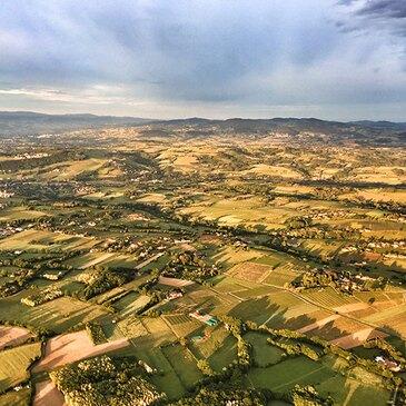 Vol en Montgolfière près de Lyon - Survol du Beaujolais en région Rhône-Alpes
