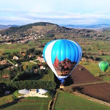 Baptême de l'air montgolfière, département Haute loire