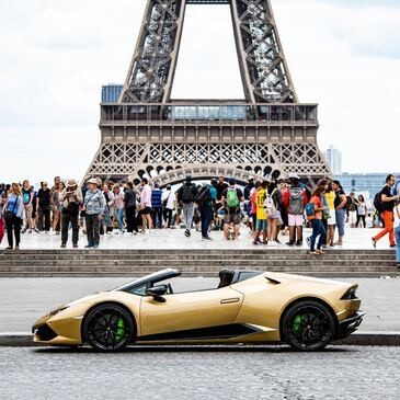 Balade en Lamborghini Huracan Spyder à Paris