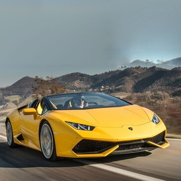 Stage sur Route en Lamborghini Huracan Spyder près de Maubeuge
