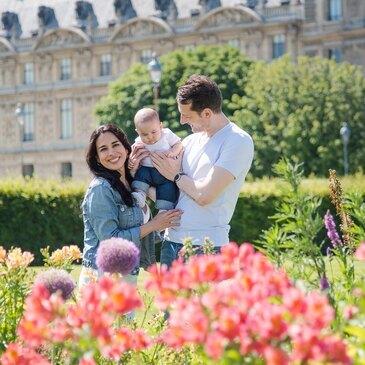 Shooting Photo de Bébé à Paris Louvre