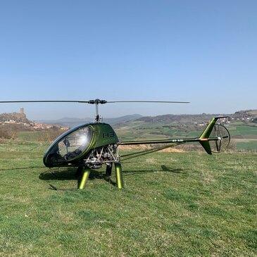 Baptême en Hélicoptère ULM près du Puy-en-Velay