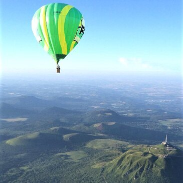Baptême de l'air montgolfière, département Puy de dôme