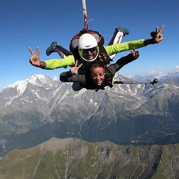 Saut en parachute, département Haute savoie