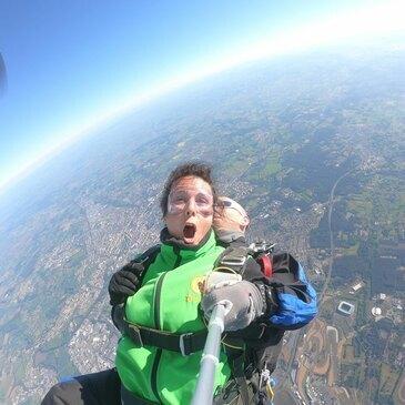 Saut en parachute, département Loir et cher