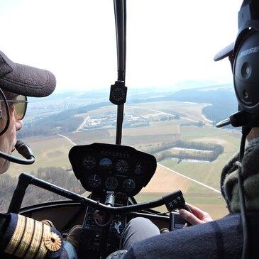 Baptême de l'air hélicoptère, département Moselle