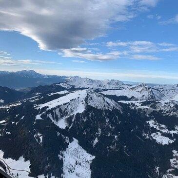 Saut en Parachute depuis un Hélicoptère près d'Annecy en région Rhône-Alpes