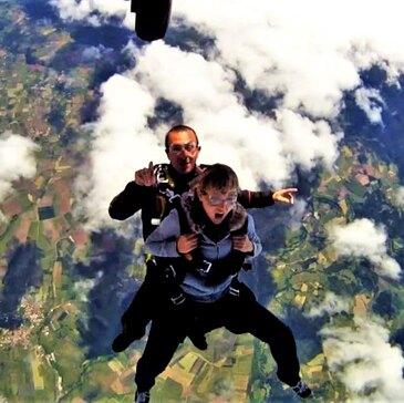 Saut en parachute, département Loire