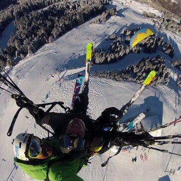 Baptême Sensation en Parapente à Ski à Méribel