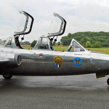 Vol en Avion de Chasse Fouga à Abbeville - Baie de Somme