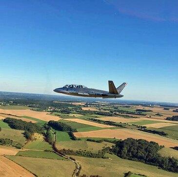 Vol avion de chasse proche Aérodrome d'Abbeville