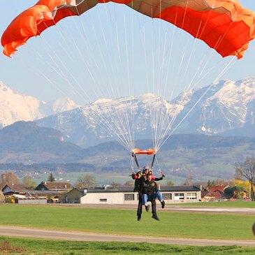 Aérodrome de Bellegarde-Vouvray, à 50 min de Annecy, Haute savoie (74) - Saut en parachute