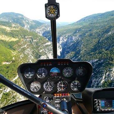 Baptême Hélicoptère, département Alpes Maritimes