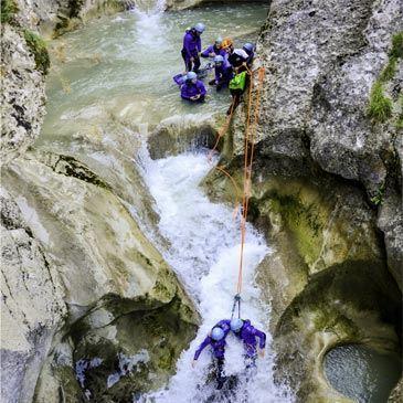 Canyon de Saint Auban (descente peu sportive)
